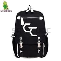 Anime Guilty Crown Backpack GC Inori Luminous School Bags for Teenage Girls Boys Laptop Backpack Women Men Casual Travel Bags
