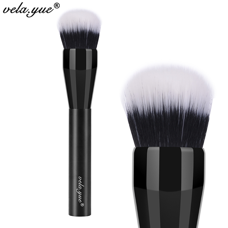 все цены на vela.yue Domed Stippling Brush Duo Fiber Versatile Makeup Brush for Face Cheek Powder Foundation Bronzer Blush Makeup Tools