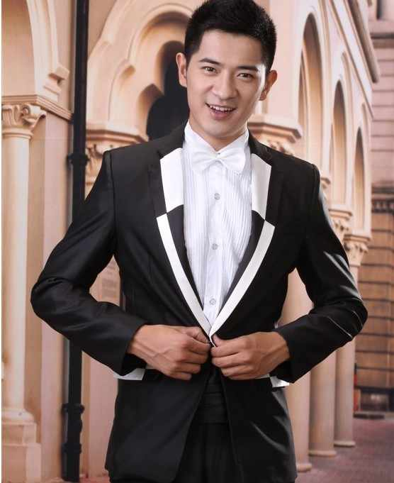 Бесплатная доставка 2015 новое поступление корейские костюмы костюм модный мужской смокинг жениха свадебный вечерний костюм брюки terno masculino