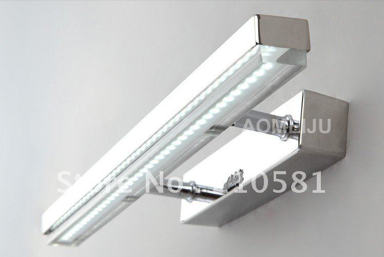 Modern Bathroom Vanity Led Light Crystal Front Mirror: 10W,LED Bathroom Lights,Stainless Steel LED Mirror Lights