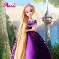 UCanaan Принцесса Куклы Рапунцель Длинные Волосы Куклы Образовательные Лучший Друг Играть с Детьми Рождественский Подарок Bthday Toys