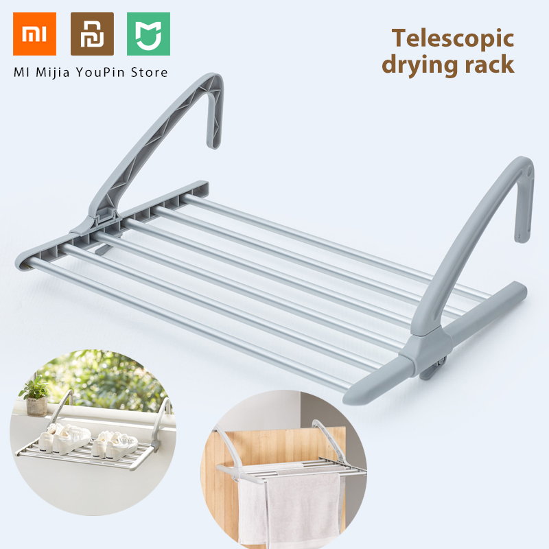 In Stock Xiaomi Mijia Bang telescopic drying alloy PP material frame rack hanger aluminum adjustable hanger