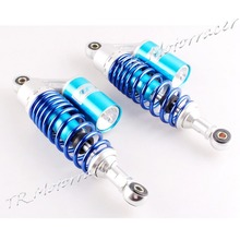11″ 280mm Single Air Shock Absorber for Scooter Moped ATV 49cc 50cc 70cc Universal Round End Hole Blue