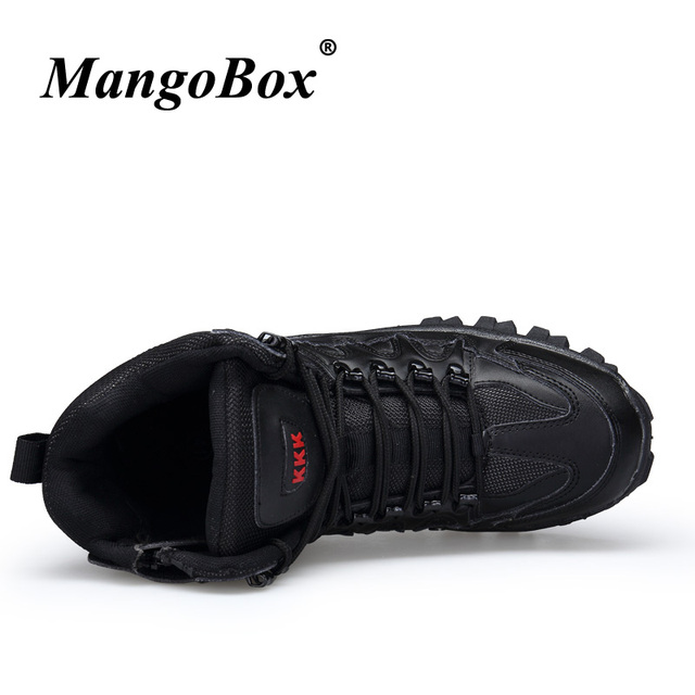 2018 Luxury Brand Combat Mens Boots Non-Slip Working Shoes For Men Comfortable Military Tactical Footwear Beige Black Army Boots 2