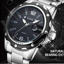 Biden Relógios Homens Marca De Luxo Relógio de Quartzo para Homens de Negócios de Aço relógios de Pulso Dive 30 m Homens Relógio Ocasional Relogio masculino