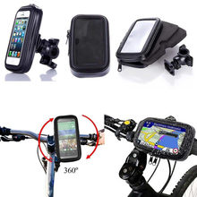 100% New Telephone Bicycle Motorcycle Phone Holder For Moto Stand Bag For Iphone X 8 Plus SE S9 GPS Bike Holder Waterproof Cover(China)