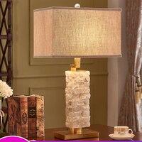 Современные настольные лампы для спальня наборный белый мрамор стол свет рядом лампы Гостиная Крытый осветительное оборудование домашний