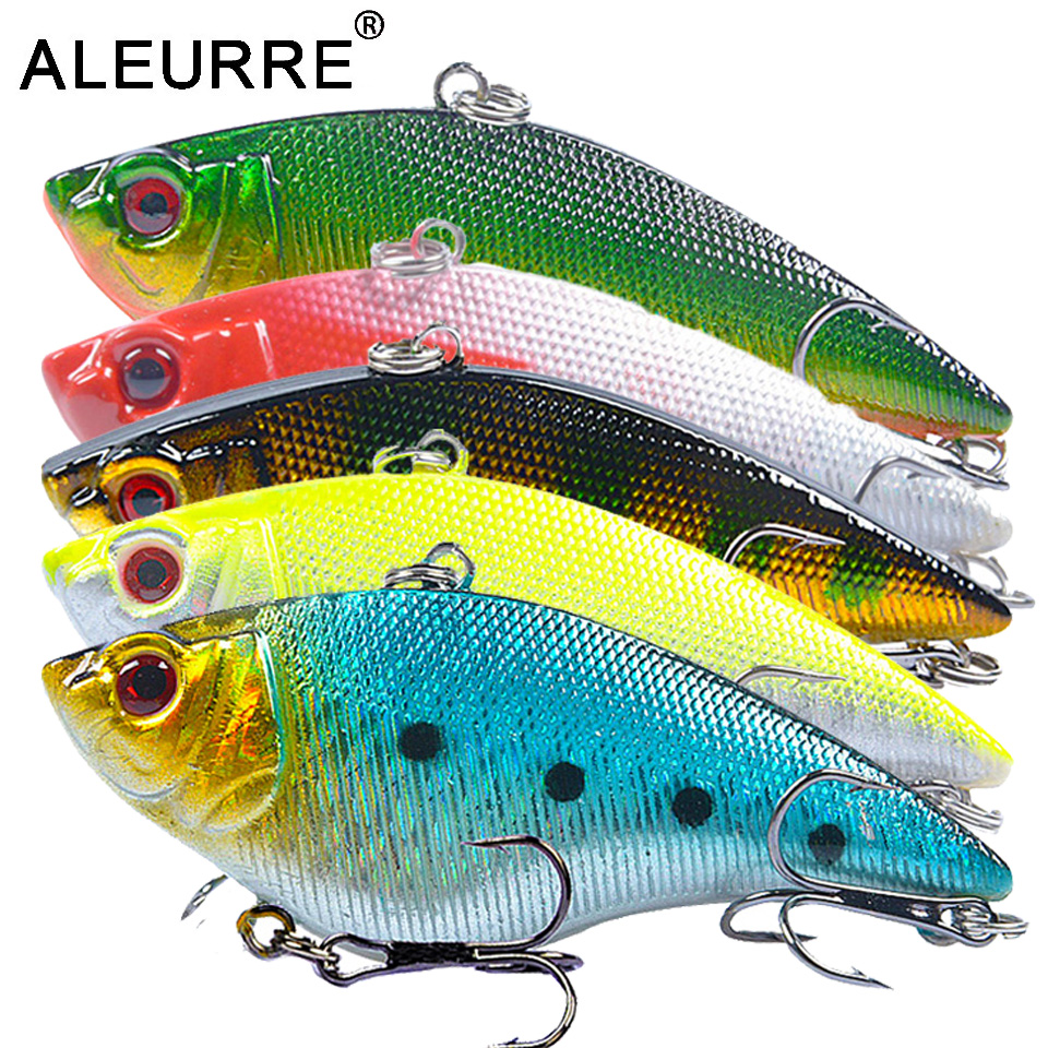 ALEURRE 1PCS Sinking Winter VIB Fishing Lure 7cm 15g Rattlin Vib Hard Bait Long Shot Wobbler Crankbait Isca Artificial Perch
