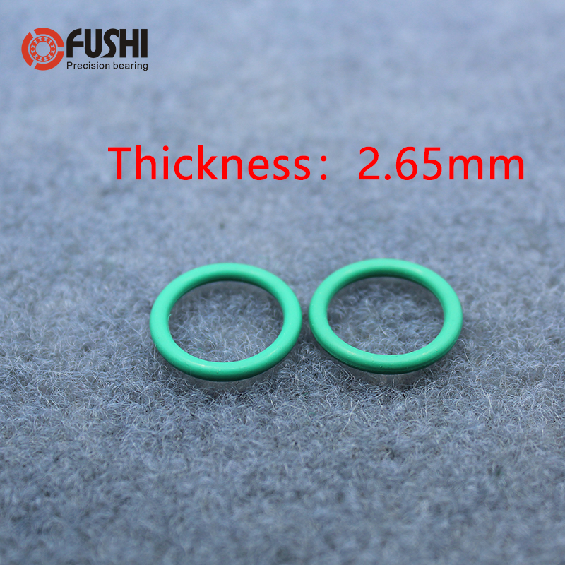 Width of 1 mm Brown Seal 10 Pieces Outer Diameter of 8 mm O-Rings of Fluorine Rubber Inner Diameter of 6 mm