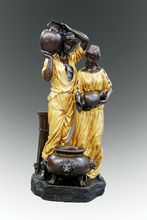 Western Classical Bronze woman and man sculptures couple statues home decoration Arts collection