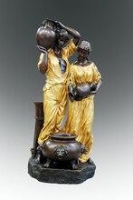 цена  Western Classical Bronze woman and man sculptures couple  statues home decoration Arts collection онлайн в 2017 году