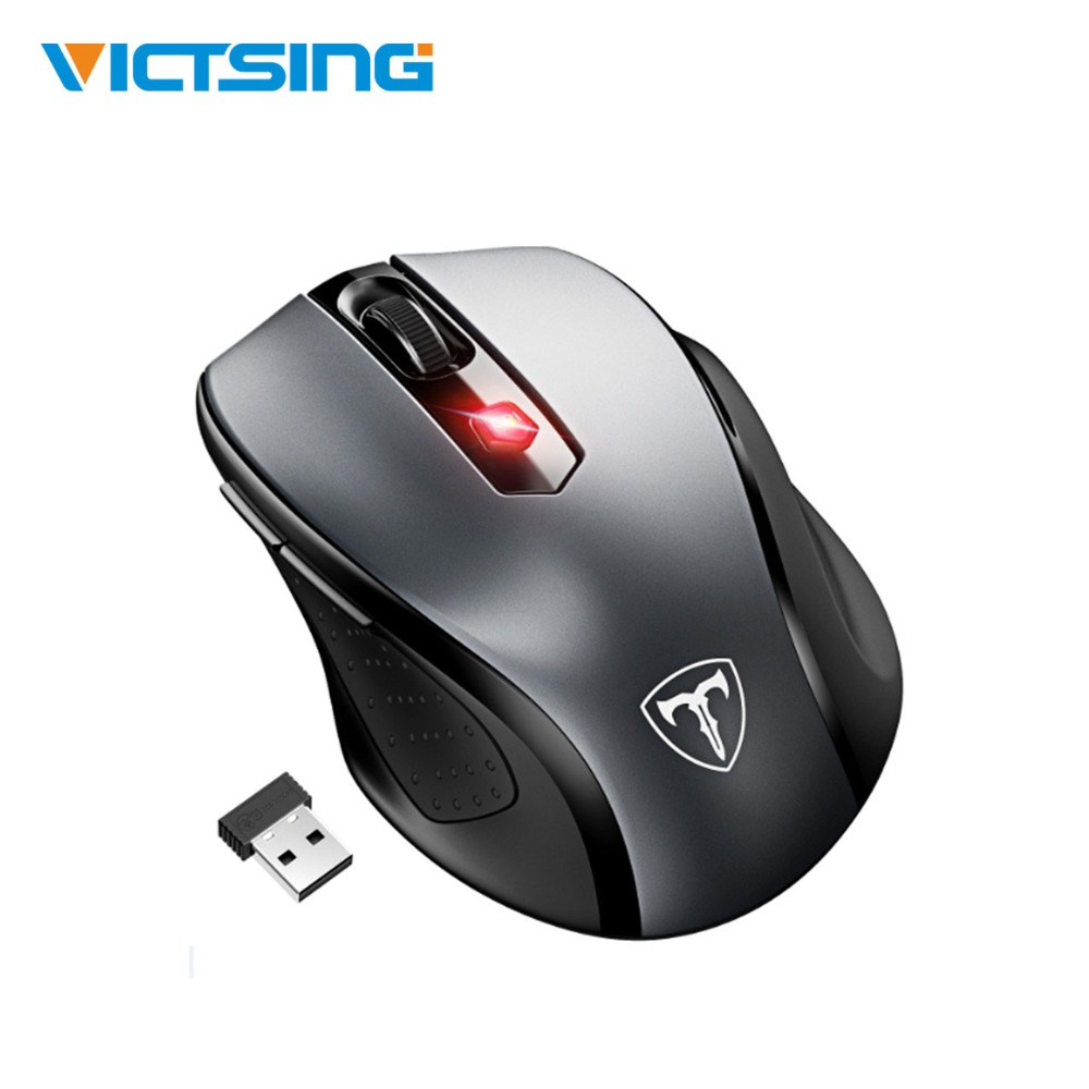 VicTsing Mouse Senza Fili Del Mouse Ergonomico Del Mouse Mobile Mouse Ottico 2.4g con Ricevitore USB 5 DPI Regolabile 6 Bottoni per il Computer Portatile PC