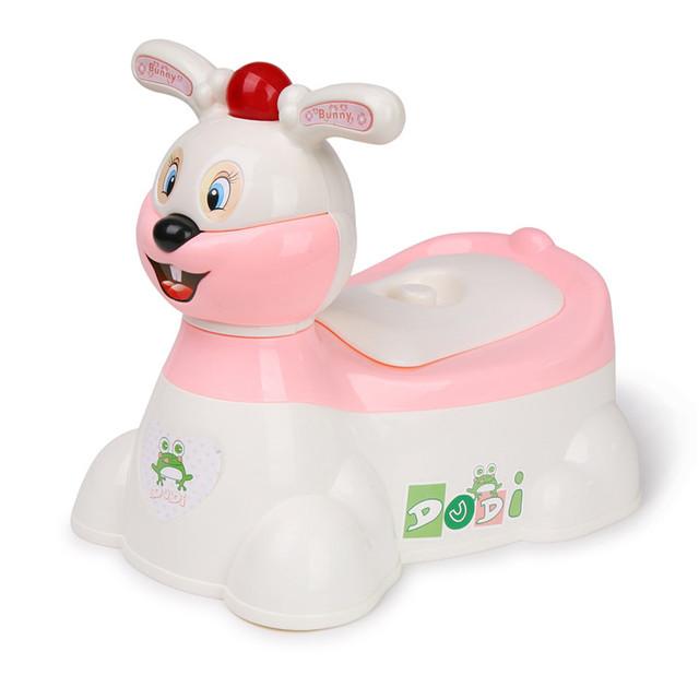 Rosa azul Bebê Coelho Musical do Instrutor do Potty Higiênico Plástico Cadeira Portátil Bebê Infantil Higiênico Potty Training Assento Da Cadeira