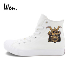 Wen White Athletic Sneakers Original Design Warrior Knight Shoes Men Women's High Top Skateboarding Shoes