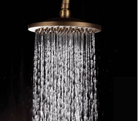 2015 New Arrivals High Quality Anti Bronze Brass Water Save Rainfall Shower Head Water Saving Bath