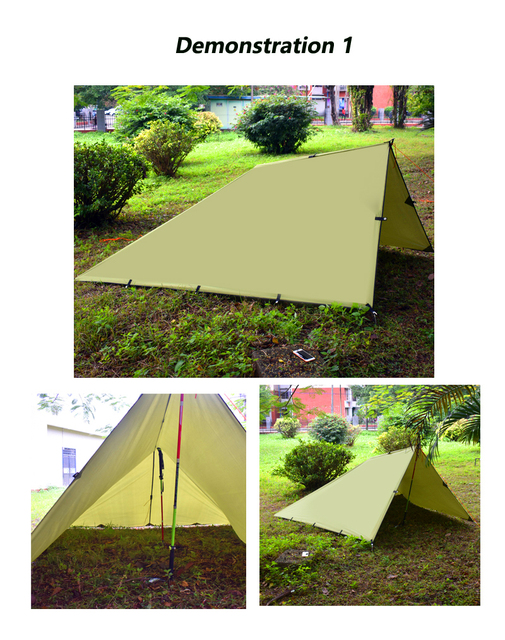 Ultralight Tarp Outdoor Camping Survival Sun Shelter Shade Awning Silver Coating Pergola Waterproof Beach Tent 3