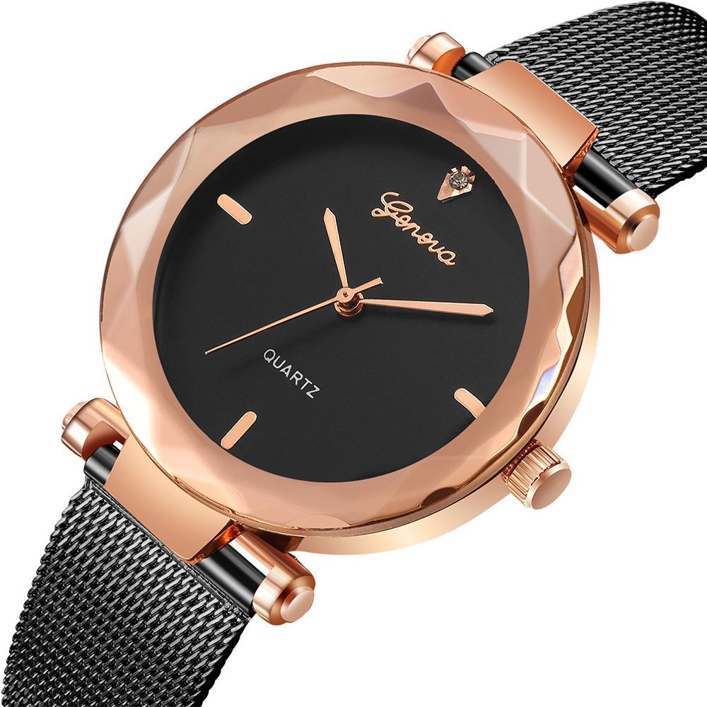 2018 Best Sell Women Watches Geneva Fashion Classic Hot Sale Luxury Stainless Steel Analog Quartz WristWatches relogio feminino 2