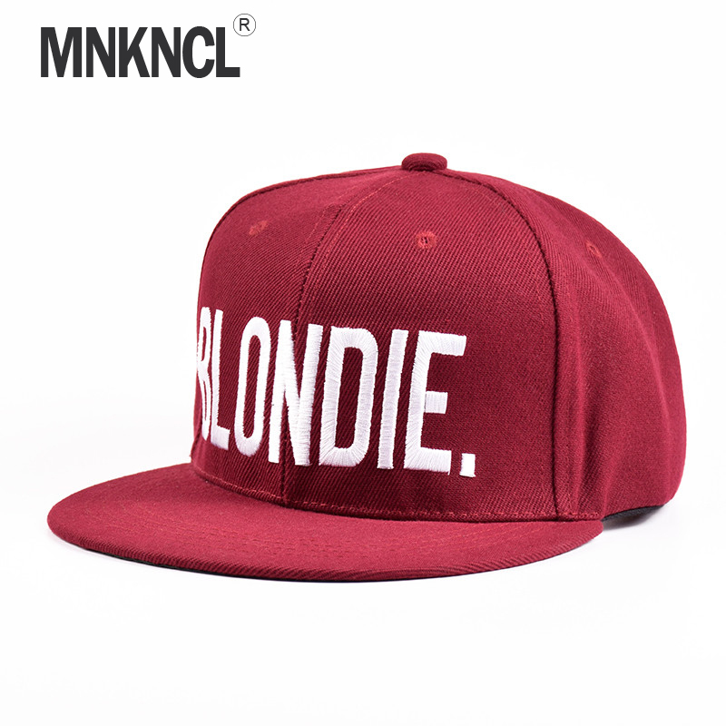 MNKNCL 2018 New BLONDIE BROWNIE Burgundy Hot Sale Snapback Hats cotton Acrylic Women Gifts For Her Red Baseball Caps Hip-Hop Hat blondie blondie 6 lp