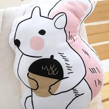 Cartoon Animal Hand Painted Pillow
