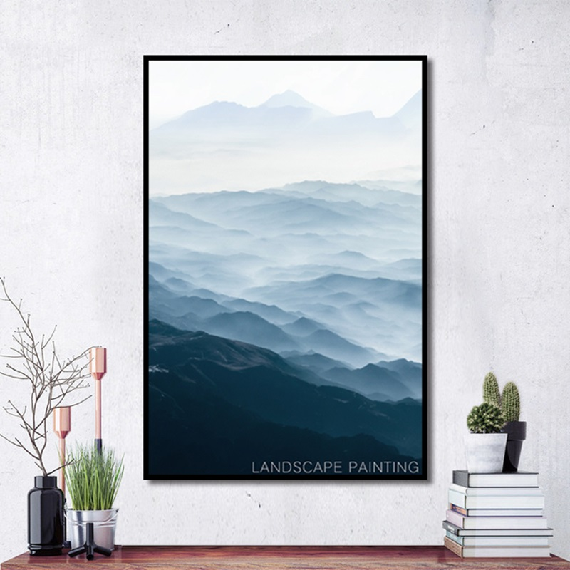 Modern Paint By Numbers Landscape Poster Large Picture Decorative Print Canvas Painting Home Wall Art Graffiti Decoration Custom in Painting Calligraphy from Home Garden