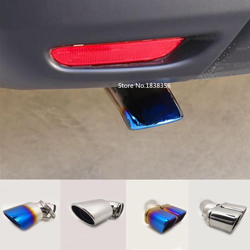 For Nissan Qashqai 2016 2017 2018 2018 2019 Car Body Muffler Exterior End Tail Pipe Outlet Dedicate Exhaust Tip Tail Frame 1pcs