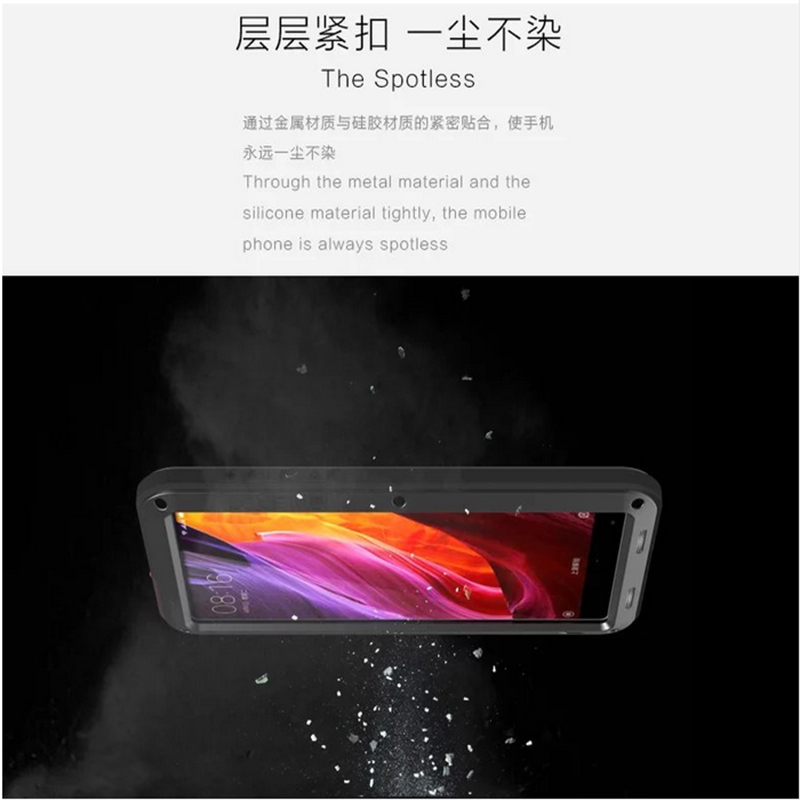 Coque de téléphone Love Mei pour xiaomi mi X housse étanche antichoc pour xiaomi mi x Gorilla Glass xio mi x étui - 4