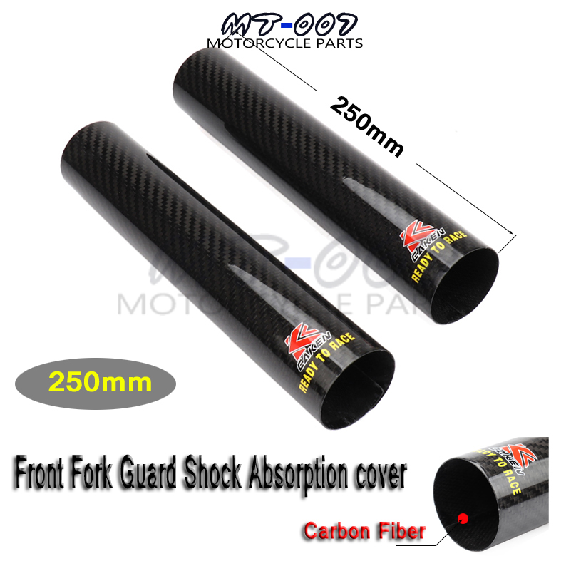 Motorcycle 250 52mm Carbon Fiber Front Shock Absorption Protect Cover Wrap Guard For KTM YZF EXC