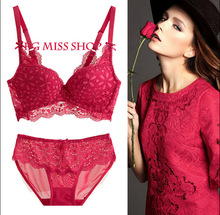 Luxury New Brand Lace Sexy Hollow Out Plus Size Push Up Women's Bra Brief Sets French Romantic Intimate Underwear Set JA9118