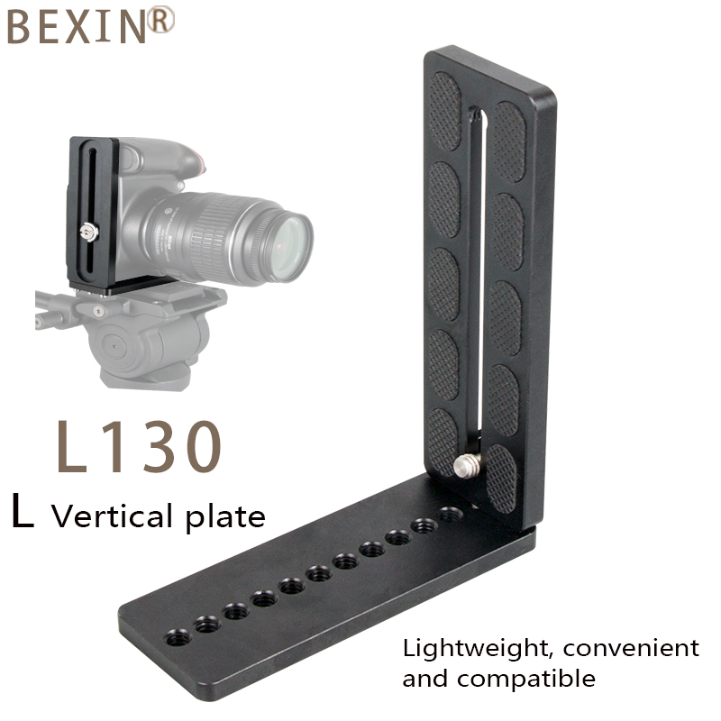 Camera support L quick release plate vertical board mount 125mm sliding track quick plate for arce swiss dslr camera with 1 4 quot in Tripod Monopods from Consumer Electronics
