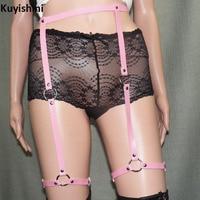 Sexy Nightclub Punk Waist Belts PU Leather Thigh Suspenders Belt Straps Leg Hip Hop Style For