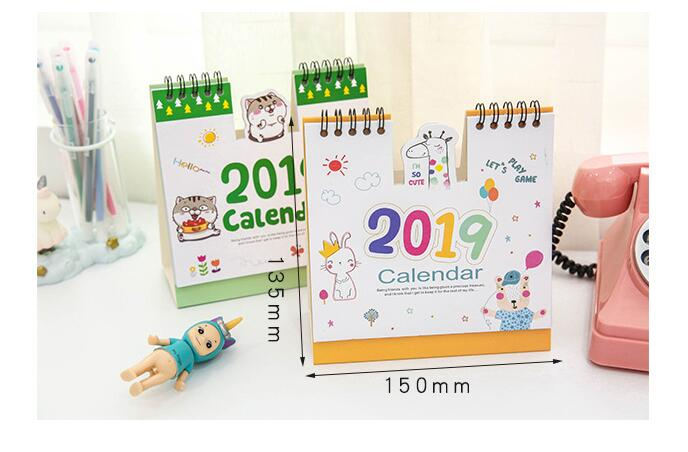 Calendars, Planners & Cards Office & School Supplies 1 Piece 24.8cm Big Size 2019 Flamingo Calendar Office Stationery Desk Notebook Holiday Promotion Gift Girls Birthday Gift