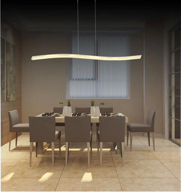 rectangular dining room lights. 2015 New Fashion LED dining room chandelier for home kitchen  decorative hanging rectangular light modern in Chandeliers from Lights
