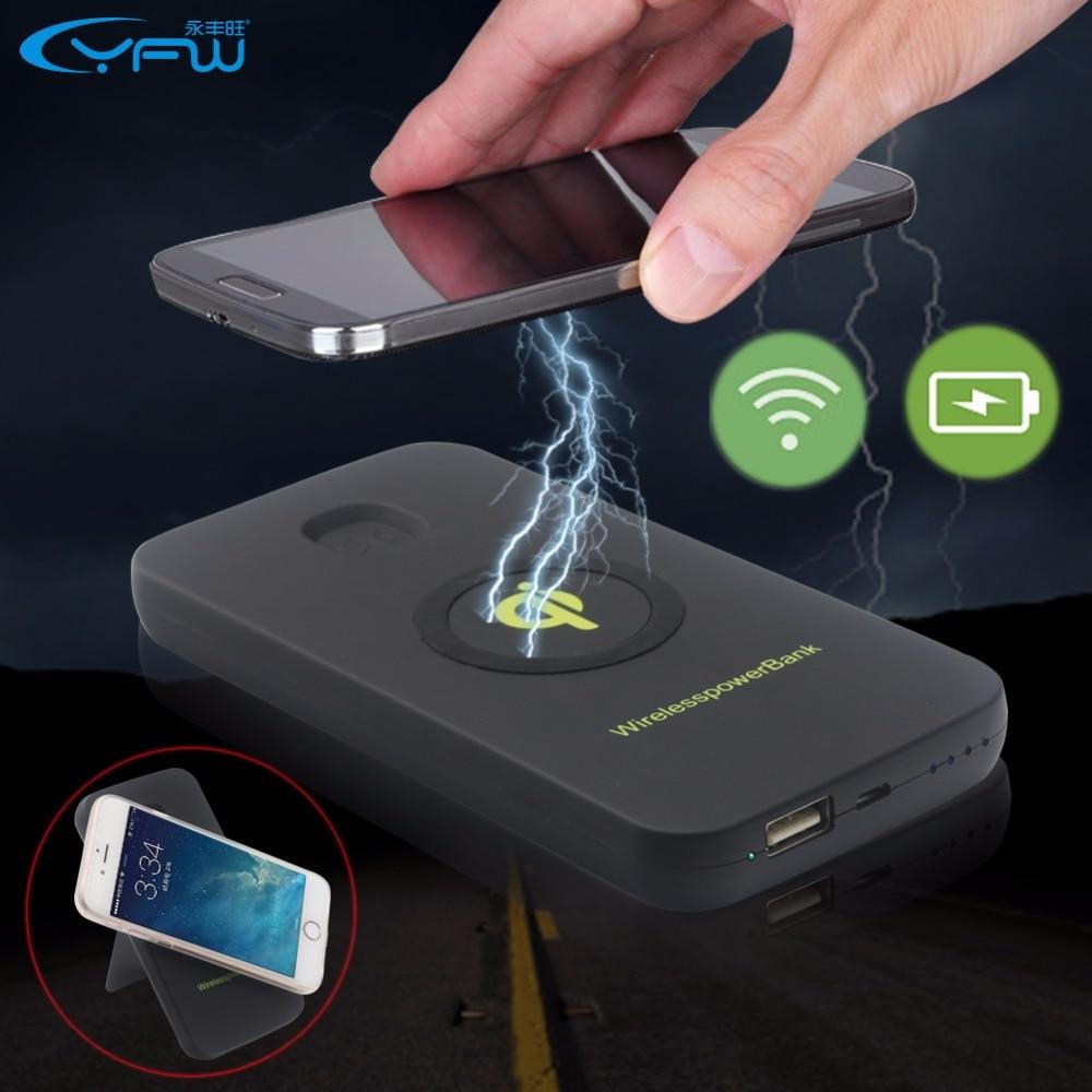 YFW QI Wireless Power Bank 6000mAh Rechargeable Battery