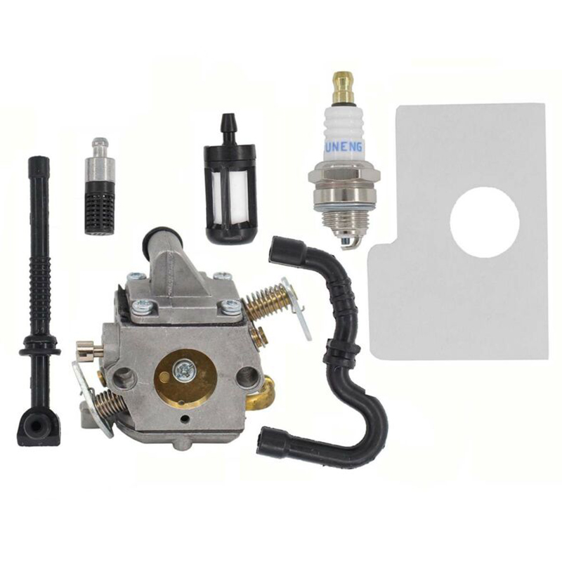 Air Fuel Oil Filter /& Spark Plug Kit For Stihl 017 018 MS170 MS180 Chainsaws