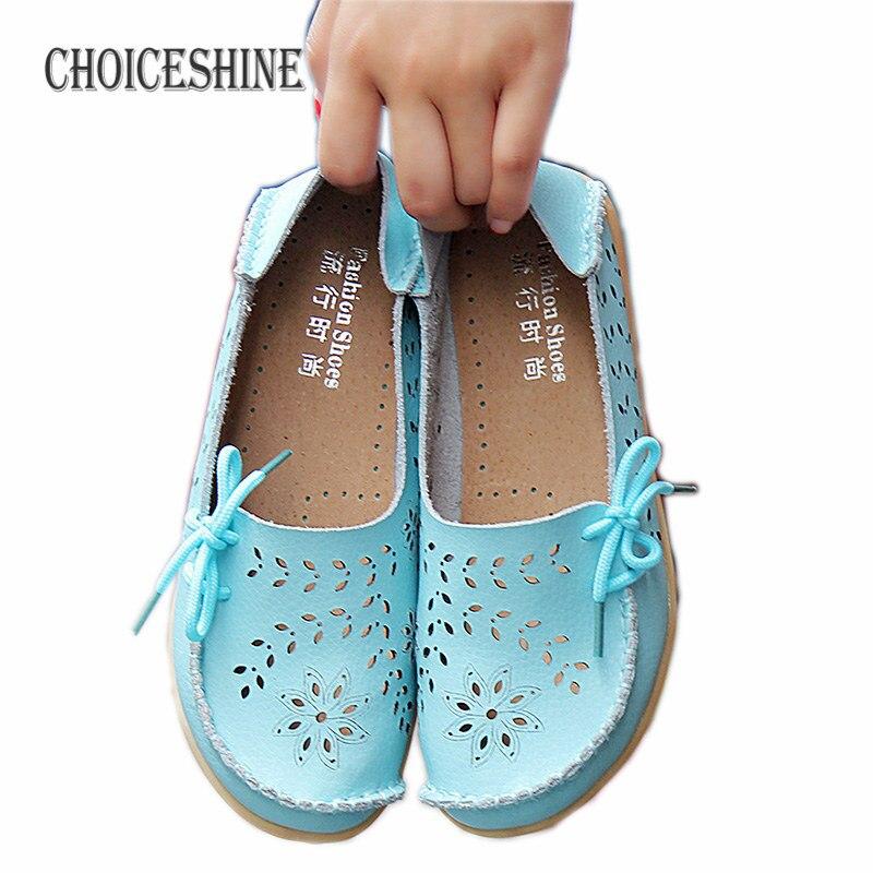 Zapatos de Cuero Genuino de las mujeres Ocasionales Mujer Holgazanes Slip-On Pis