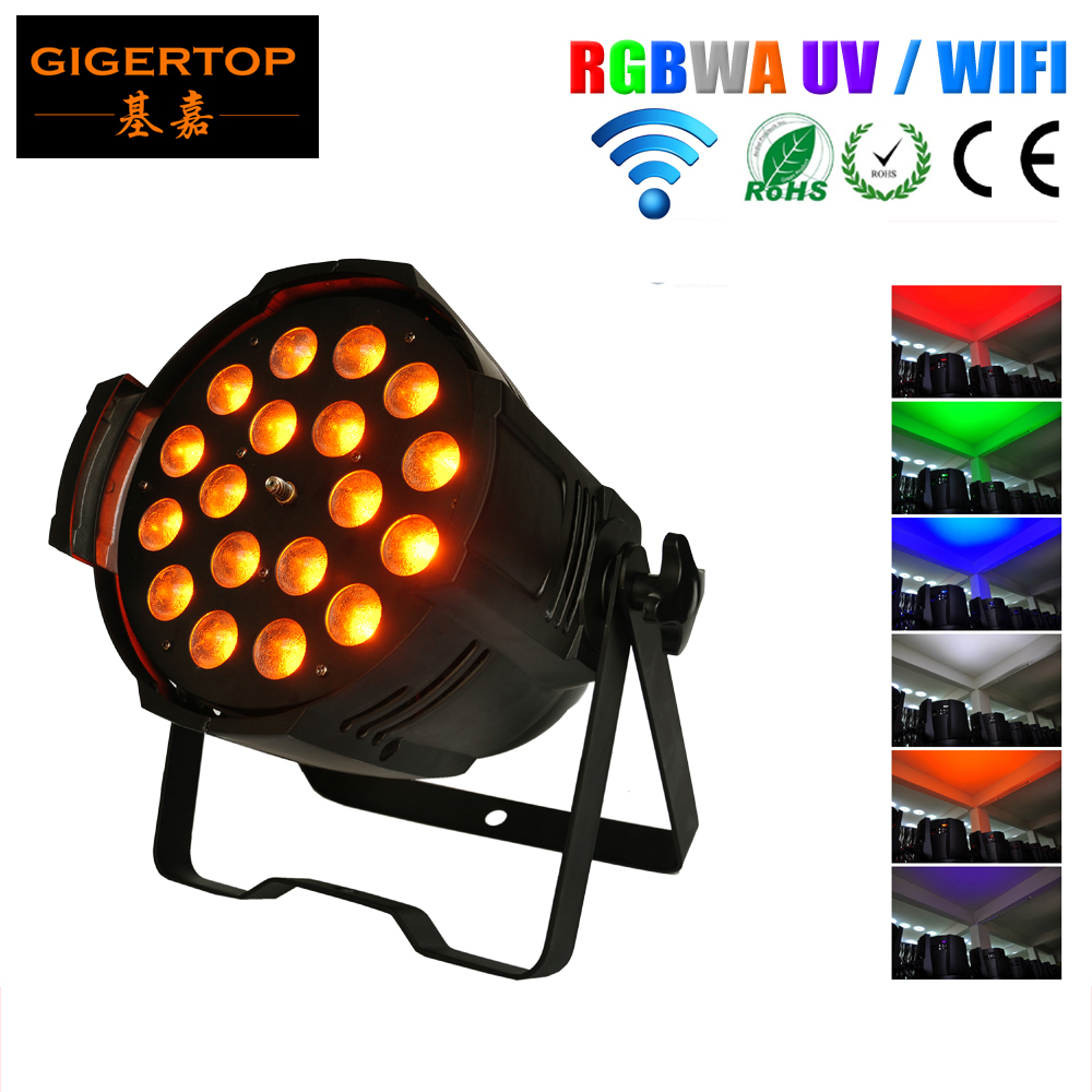 TP-P80B Stage Light 18x18W Led Par Zoom Light RGBWA UV 6IN1 UV WIRELESS DMX Par Can DJ Uplighting Up Light Black Color Aluminum professional 8x led par 6 18w leds smart dj s4 battery powered wireless dmx wedding uplight light rgbwa uv 6in1 party up lights