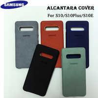 Coque d'origine Samsung S10 housse Alcantara pour Galaxy S10 Plus S10 + S10E Coque cuir Premium en daim Coque d'origine Fundas