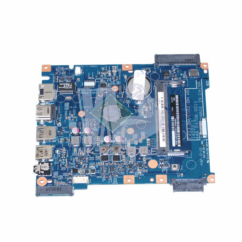 NBMRW11002 NB.MRW11.002 For Acer aspire ES1-512 Laptop Motherboard EA53-BM EG52-BM MB 14222-1 448.03708.0011 N2840 CPU DDR3 laptop motherboard for acer aspire 4743 4743g hm55 geforce gt540m mb rfh01 002 mbrfh01002 je43 cp mb 48 4ni01 02m mainboard