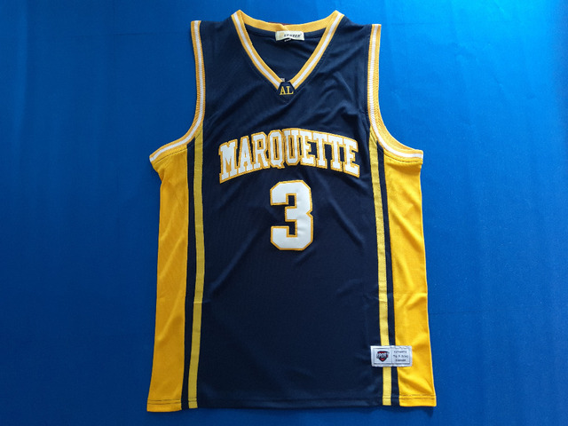 1d54f3c71 ... italy dueweer marquette university jersey 3 dwyane wade jersey college  basketball jerseys stitched blue 9bca1 9d141