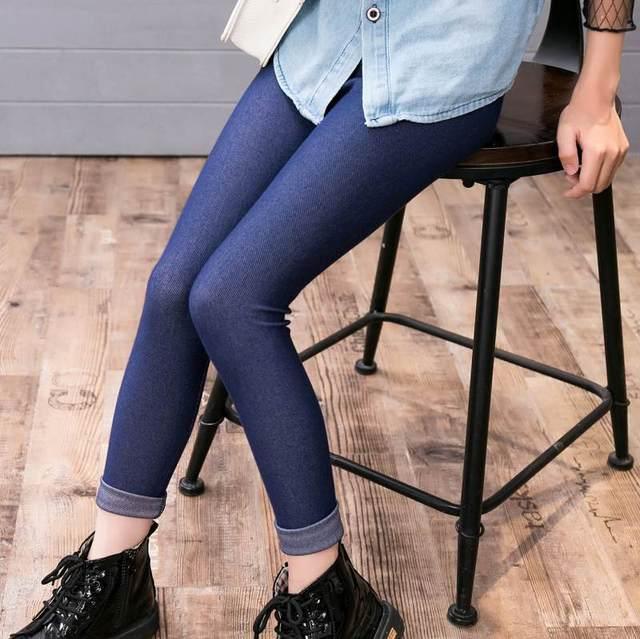 Baru Anak Perempuan Legging Denim Elastis Celana Untuk Anak Perempuan Remaja Sekolah Anak Celana Jeans Anak Merek Celana Panjang 3 10 Tahun Pants For Girls Girls Leggingspants Brand Aliexpress