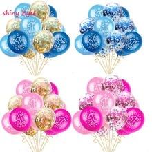 цена Baby Shower 1st Birthday Balloons Set Pink Blue Confetti Latex Balloons for Boy Girl 1 Year Old Birthday Party Accessories в интернет-магазинах