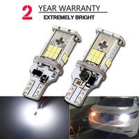 2 개 새로운 업그레이드 매우 밝은 높은 전력 Canbus SMD3020 912 921 T15 W16W 자동차 LED 백업 라이트 자동차 역 램프 전구