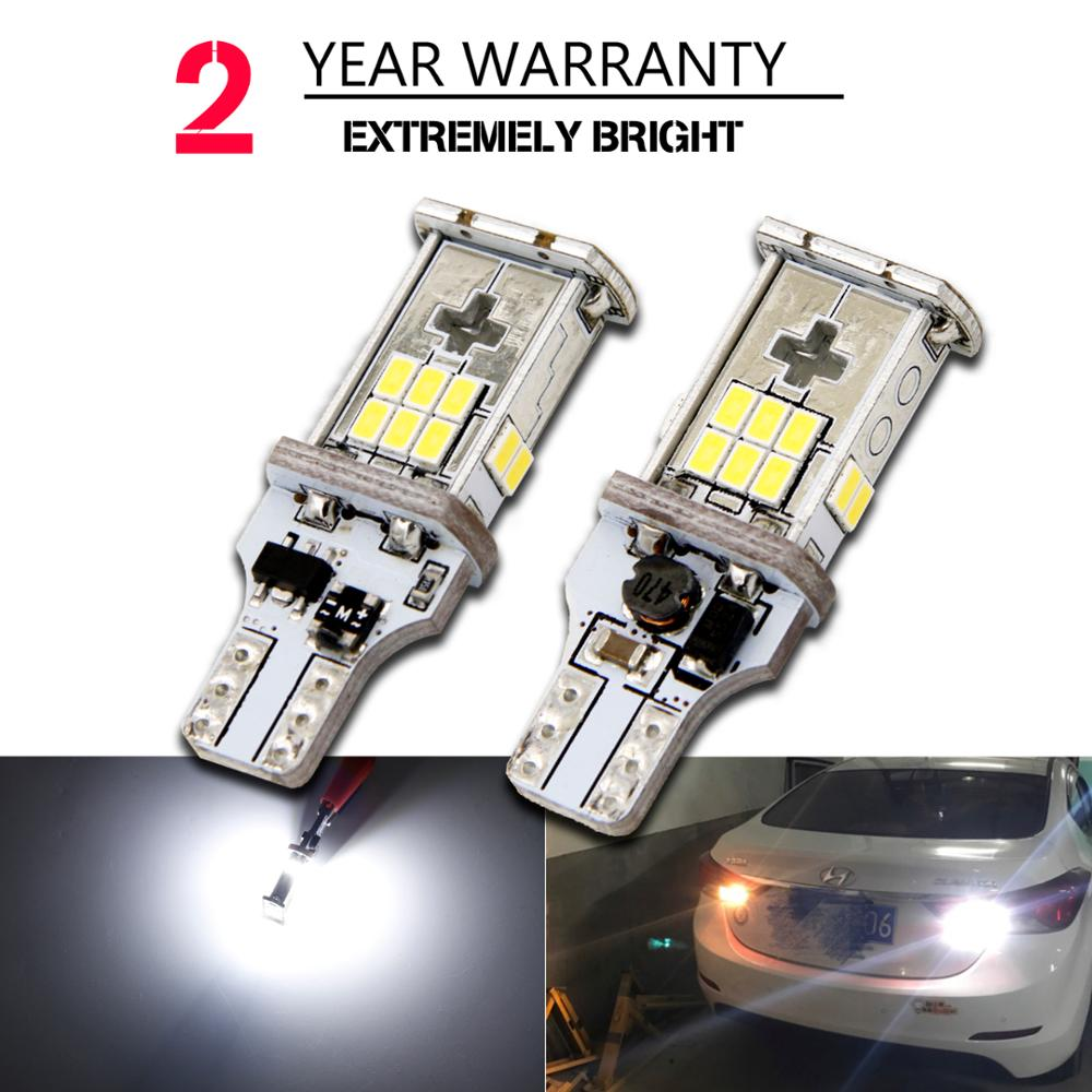 2 PCS New Upgrade Extremely Bright High Power Canbus SMD3020 912 921 T15 W16W Car LED Back-up Light Auto Reverse Lamp Bulb 2pcs lot t15 w16w 921 912 2835 21smd led canbus error free tail lights bulbs car reverse light backup light white 12v 24v