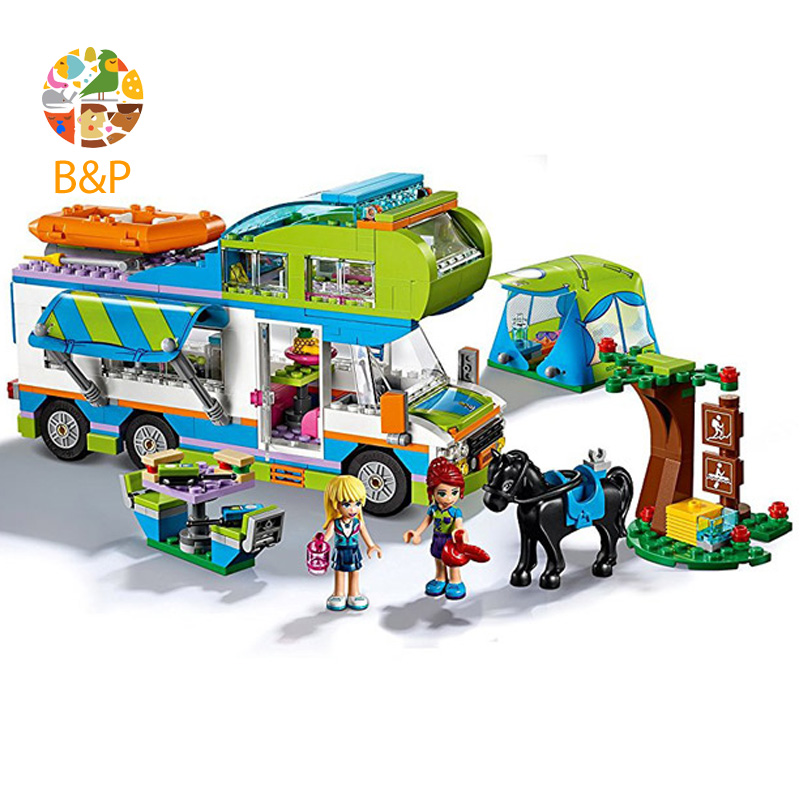 legoing 41339 493Pcs Friends Series The Mia's Camper Van Camping Adventure Building Blocks Bricks toys Compatible Gift 10858