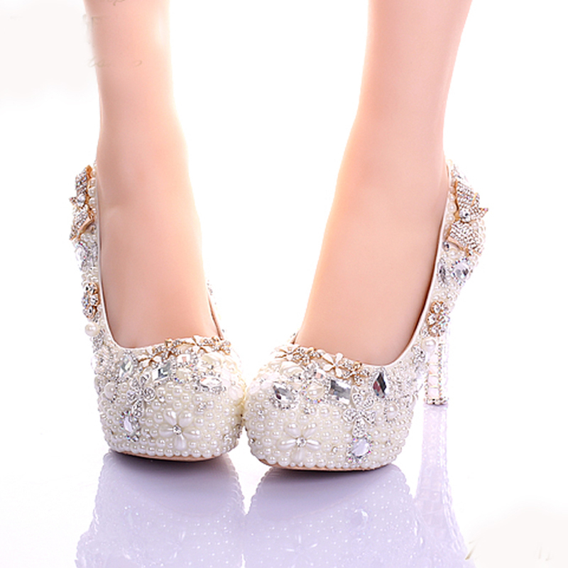 Mujeres De 12cm 8cm Zapatos Party Hermoso 6cm Novia Lujo Heels Perlas Hecho Mano 10cm Heels Prom Cuero Cristal Ivory Aguja A ivory Marfil 14cm Plataforma Vestido AxgwnqE17z