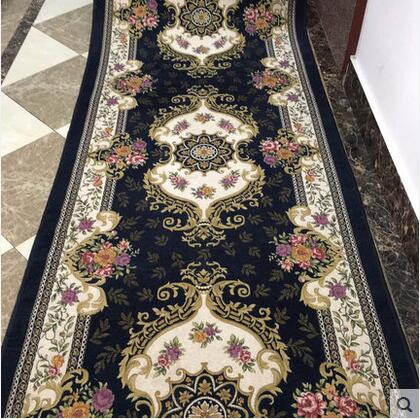 European and Ameircan Style Hallway Carpet Floral Modern Pattern Absorbent Non slip Carpet rug runner for