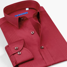 Smartfive мужские рубашки с длинным рукавом, приталенные белые смокинги для мужчин, рубашка, Однотонная рубашка, брендовая одежда SFL3Q01