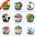 18Pcs Plants VS Zombies fashion badges  Button Pin Round Brooch Badges,clothes Bags Decorate,party gift
