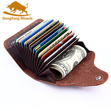 Genuine Leather Unisex Card Holder Wallets High Quality Female Credit Holders Women Pillow Organizer Purse