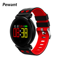 Pewant K2 Bluetooth Smart Watch IP68 Waterproof Colorful OLED Smartwatch Heart Rate Monitor Blood Pressure For Android iOS Phone
